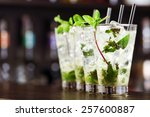 mojito cocktail on a bar counter | Shutterstock . vector #257600887