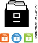 file cabinet symbol  | Shutterstock .eps vector #257604097