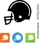 football helmet icon | Shutterstock .eps vector #257611363