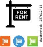 rental sign symbol for download.... | Shutterstock .eps vector #257612413