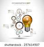 infographic layout for... | Shutterstock .eps vector #257614507