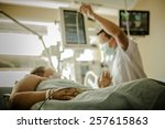 icu room in a hospital with... | Shutterstock . vector #257615863
