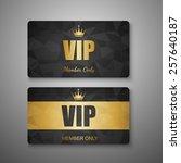 vip card template vector | Shutterstock .eps vector #257640187