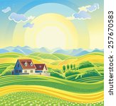 Sunny Summer Landscape With...