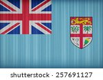 fiji flag pattern on the fabric ... | Shutterstock . vector #257691127
