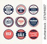 premium  quality retro vintage... | Shutterstock .eps vector #257694007