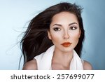 hair in the wind | Shutterstock . vector #257699077
