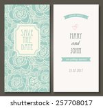 vintage vector card templates.... | Shutterstock .eps vector #257708017