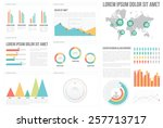 infographic elements collection ... | Shutterstock .eps vector #257713717