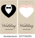 beautiful wedding  invitation... | Shutterstock .eps vector #257734393