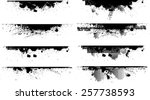 edges vector set . design... | Shutterstock .eps vector #257738593