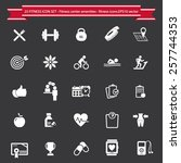 fitness icons set | Shutterstock .eps vector #257744353