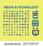 media  technology isolated...