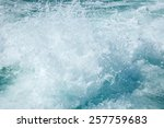 waves from the ship | Shutterstock . vector #257759683