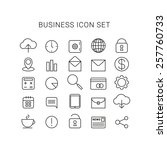 line business icons vector set... | Shutterstock .eps vector #257760733