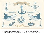 vector pack of nautical... | Shutterstock .eps vector #257765923