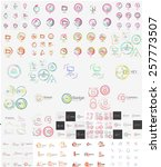 vector mega set of linear stamp ... | Shutterstock .eps vector #257773507