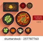 food illustration   korean food ... | Shutterstock .eps vector #257787763