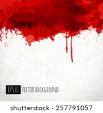 red blood stains on old paper.... | Shutterstock .eps vector #257791057