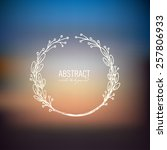 blurred landscape background... | Shutterstock .eps vector #257806933