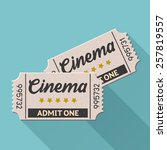 vector movie ticket vintage... | Shutterstock .eps vector #257819557