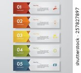 design clean number banners... | Shutterstock .eps vector #257827897