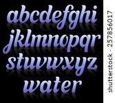 glamour italic letters. | Shutterstock .eps vector #257856017
