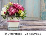 Bouquet Of Pink Carnations And...