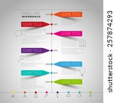 vector timeline infographic... | Shutterstock .eps vector #257874293