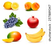 big group of different fruit.... | Shutterstock .eps vector #257889347
