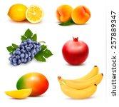 big group of different fruit.... | Shutterstock .eps vector #257889347