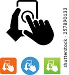 hands using phone   ux icon | Shutterstock .eps vector #257890133