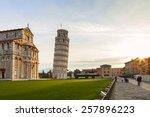 Piazza Dei Miracoli View In Pisa