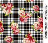 pattern of rose  | Shutterstock .eps vector #257909657