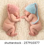 Newborn Twin Babies  Boy And...