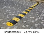 Traffic Safety Speed Bump On A...