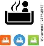 person sitting in a hot tub icon | Shutterstock .eps vector #257915987