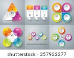 Infographic design template can be used for workflow layout, diagram, number options, web design. Business concept with 3, 4 options, parts, steps or processes. Abstract background.   Shutterstock vector #257923277