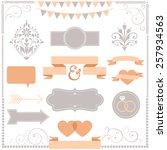 invitation ornament set   set... | Shutterstock .eps vector #257934563