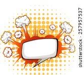 comic balloon with polkadot... | Shutterstock .eps vector #257957537