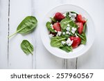 Salad With Spinach  Strawberry...