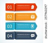 modern arrow design template... | Shutterstock .eps vector #257963297