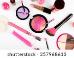 different cosmetics close up | Shutterstock . vector #257968613