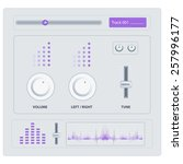 equalizer icon elements in...