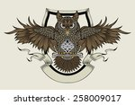 it is an owl. a symbol of... | Shutterstock . vector #258009017