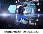 football player against shiny... | Shutterstock . vector #258033323