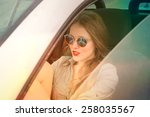 beauty in the car  | Shutterstock . vector #258035567