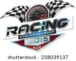 racing championship   Shutterstock .eps vector #258039137