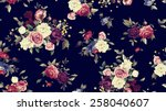 seamless floral pattern with... | Shutterstock . vector #258040607