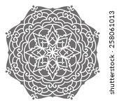 mandala. vector ethnic oriental ... | Shutterstock .eps vector #258061013